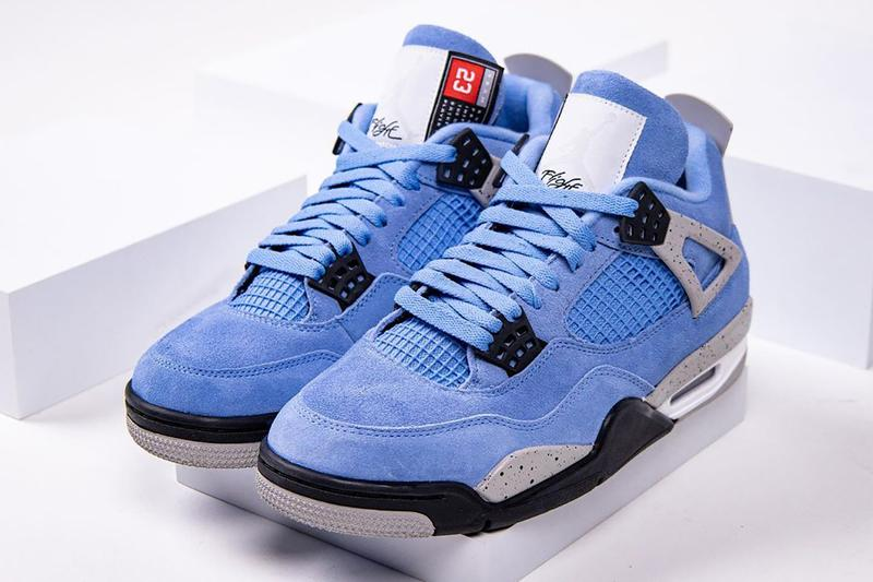 air jordan 4 university blue release info CT8527 400 photos date store list buying guide closer look jordan brand unc tar heels