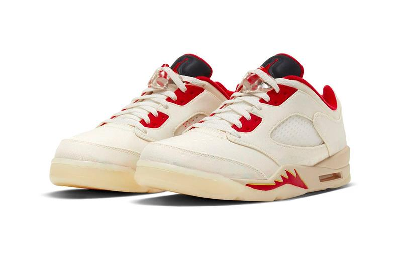 Air Jordan 5 Low Chinese New Year First Look Release Info DD2240-100 2021 Buy Price Sail Red White