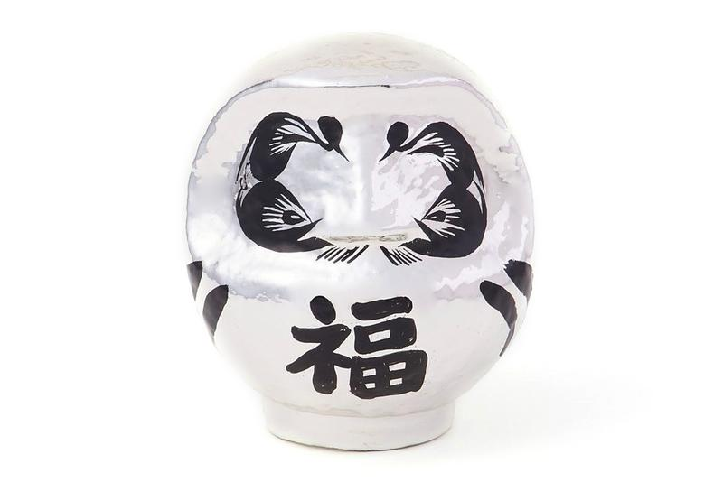 AMBUSH 2021 Daruma fuku good luck fortune talisman ornament object design Gunma Japan Takasaki City traditional gold silver white