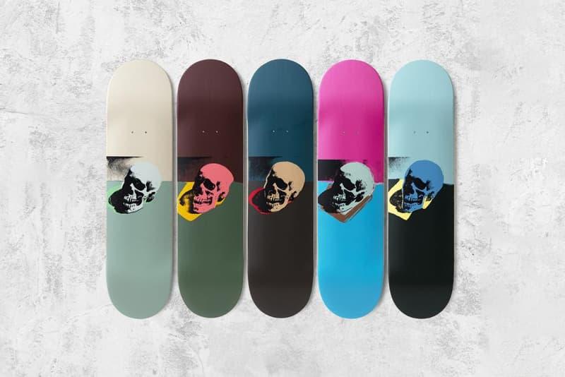 andy warhol skulls the skateroom editions skateboarding artworks
