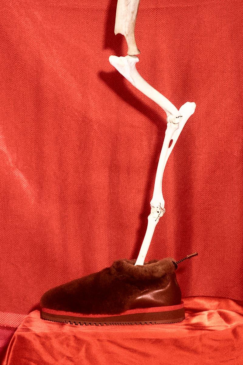 aries sofia prantera suicoke ron red black khaki furry leather release information details buy cop purchase