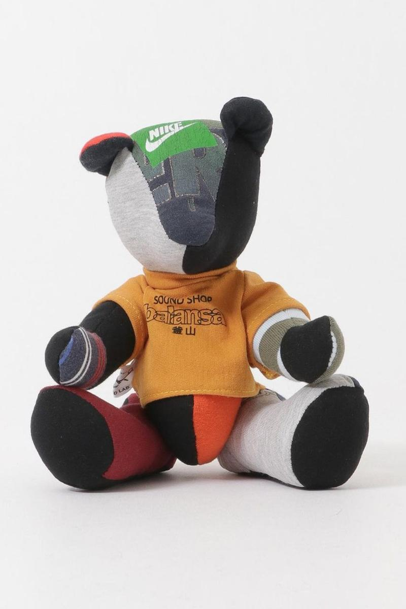 Balansa x Second Lab Launches Remade Teddy Bear with Nike Vintage Items lifestyle store imprint soundshop Tshirt collaboration