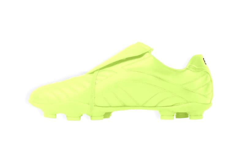 "Balenciaga ""Soccer"" Sneaker ""Fluo Yellow"" Neon Football Fall Winter 2020 FW20 Demna Gvasalia Polyurethane BB Logo Shoe Sneaker Trainer Release Information Drop Date Closer First Look Runway"
