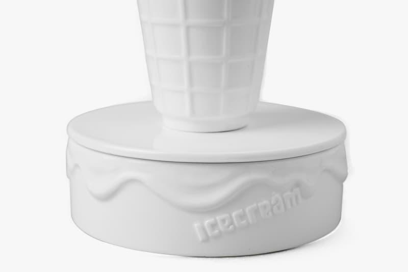 "BBC ICECREAM x YEENJOY STUDIO ""Cones & Bones"" Incense Chamber Burner Pharrell Williams Design Art Homeware Goods Gifts Accessories 3D Porcelain White"