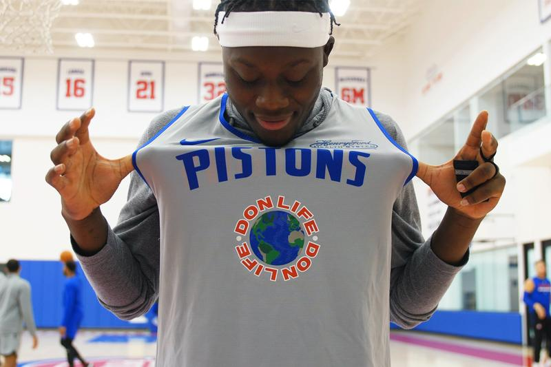 Big Sean Detroit Pistons New Creative Director of Innovation Don Life Announcement Basketball Music NBA