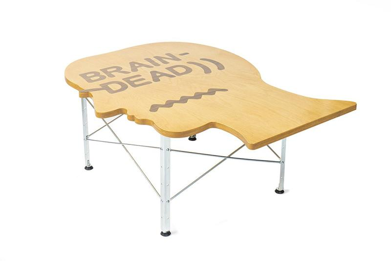 Brain Dead x Modernica Headcase Study Table Furniture Design Collaboration Homeware Limited Edition Maple Plywood Made in USA Kyle Ng