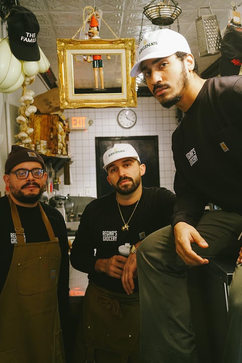 carhartt wip works in progress regina's grocery uncle paulies la los angeles new york city nyc food bank charity details