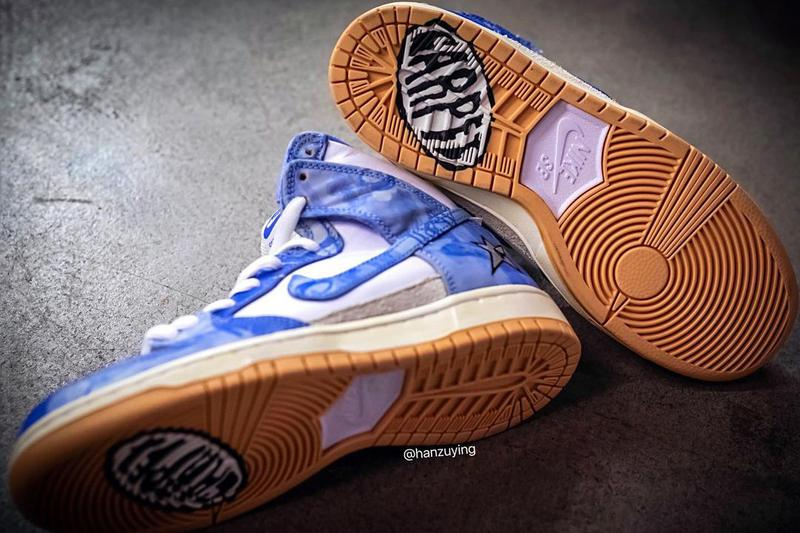 carpet company nike sb skateboarding dunk high white blue gum CV1677 100 official release date info photos price store list buying guide