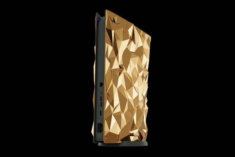 Caviar Golden Rock PlayStation 5  luxury crocodile leather artisanal gaming video games consoles Japan 1 of 1 rare precious metal