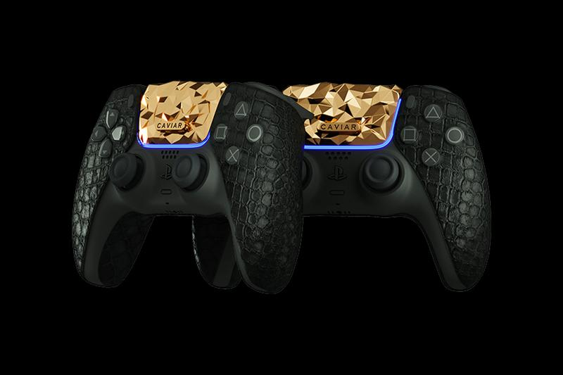 Caviar Golden Rock PlayStation 5 luxury crocodile leather artisanal gaming video games consoles Japan 1 of 1 rare precious metal