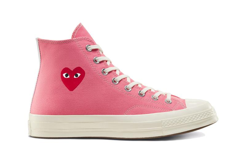 comme des garcons play converse chuck 70 hi ox high low hearts restock december 2020 blue pink neon yellow white black official release date info photos price store list buying guide
