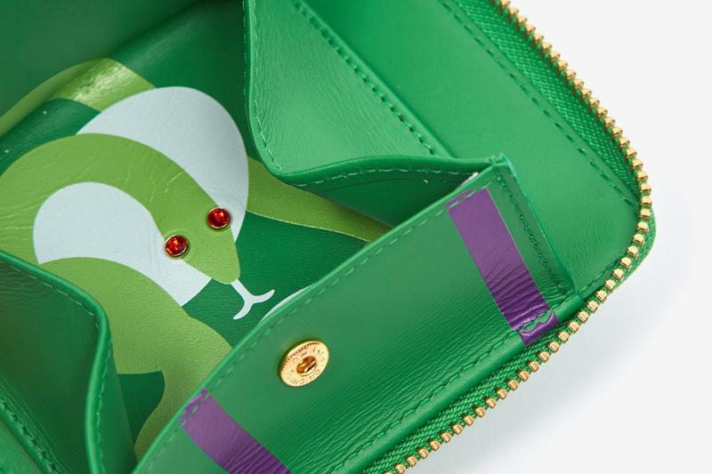"""COMME des GARÇONS Wallet """"Ruby Eyes"""" Collection Snake Accessories Wallets Coin Pouch Zipper Jewelled SA5100RE SA2100RE SA3100RE Fall Winter 2020 AW20 FW20"""