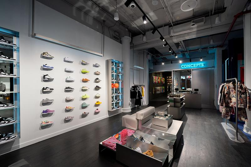 concepts new york store opening release info photos union square manhattan shoes fashion apparel 2500 square foot