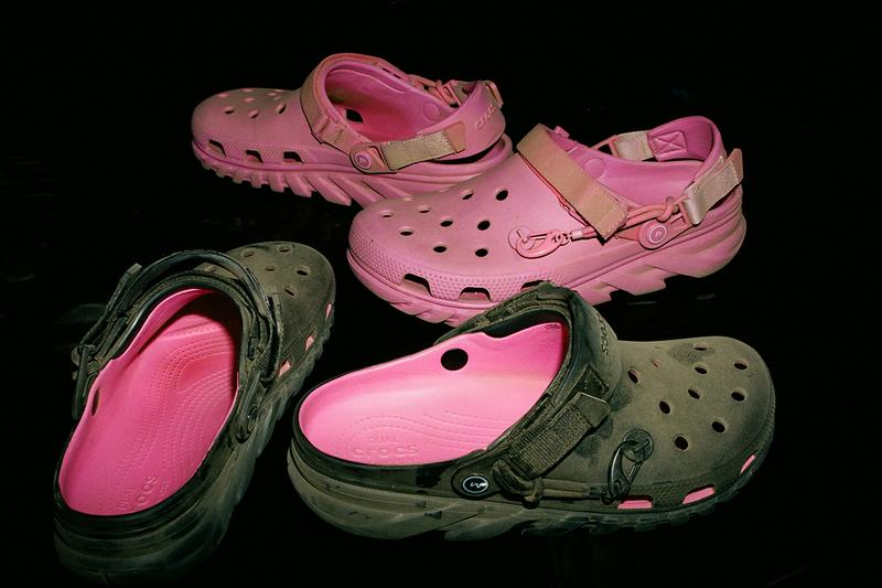 post malone crocs duet max clog pink black charms release information buy cop purchase