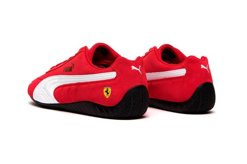 """Ferrari x PUMA Speedcat """"Rosso Corsa/Puma White"""" """"Puma Black"""" 306796-02 306796-01 Sneaker Release Information Formula 1 Scuderia Ferrari Drivers F1 Race Cars Fast Shoe"""