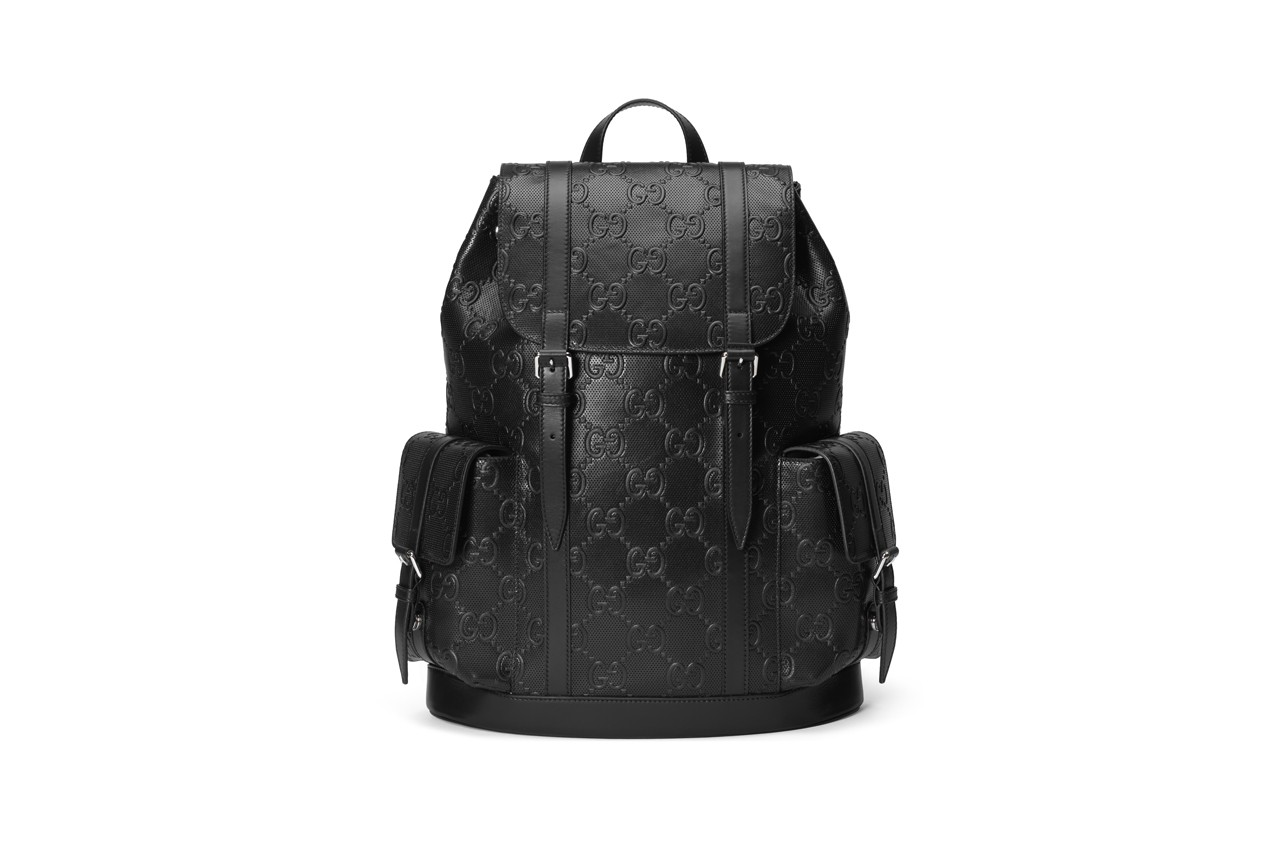alessandro michele monochromatic black leather gg all black white out embossed gold hardware matthew jamal music musician