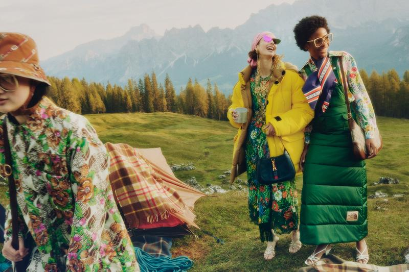 gucci the north face collaboration first look outerwear tents equipment coat clothing hiking boot release information first look details