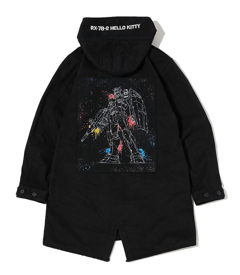 mobile suit gundam hello kitty collaboration r4g respect for geeks merch collection jacket tee shirt pants bag tote figure Premium Bandai