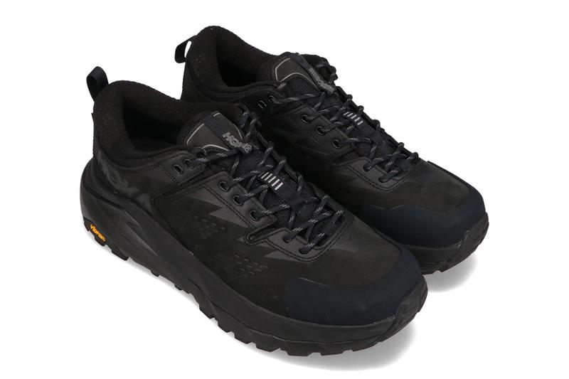 hoka one one kaha low gore tex black green sheen release info photos price store list buying guide