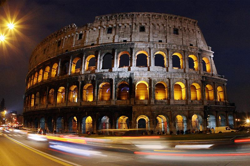 italy rome tourism colosseum reconstruction rebuild floor theater concert art high culture travel ancient monument
