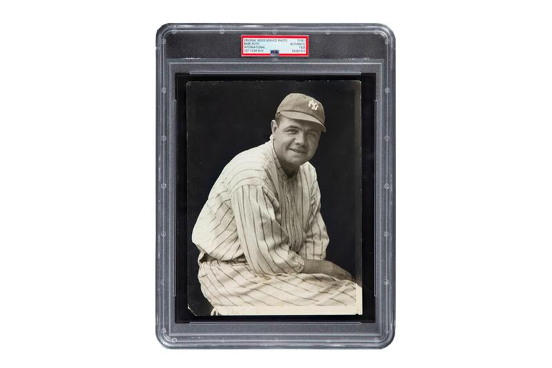 Jackie Robinson Babe Ruth Baseball Card Related Photo Auction Leaf Trading Announcement