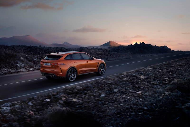 jaguar 2021 f pace svr performance suv v8 engine 550 horsepower