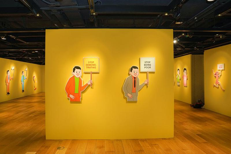 Joan Cornellà My Life Is Pointless Contemporary Showcase Interview Sothebys Hong Kong allrightsreserved dark humor satire original paintings life sized panels