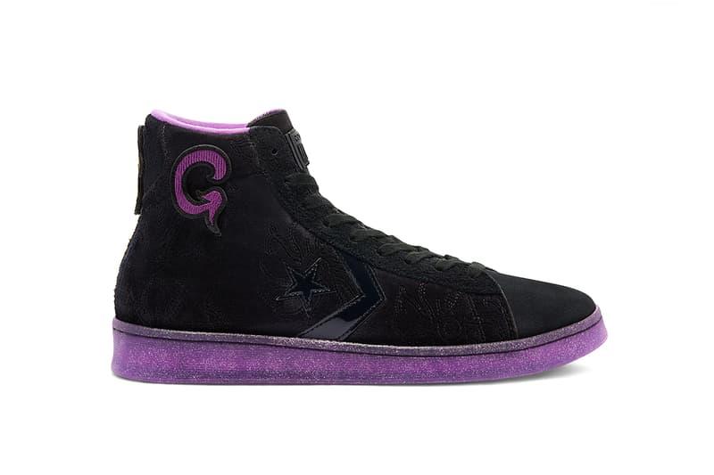 joe freshgoods converse chuck taylor multi-color pro leather black purple hoodie tie dye t-shirt duffel bag release date info pricing buying guide