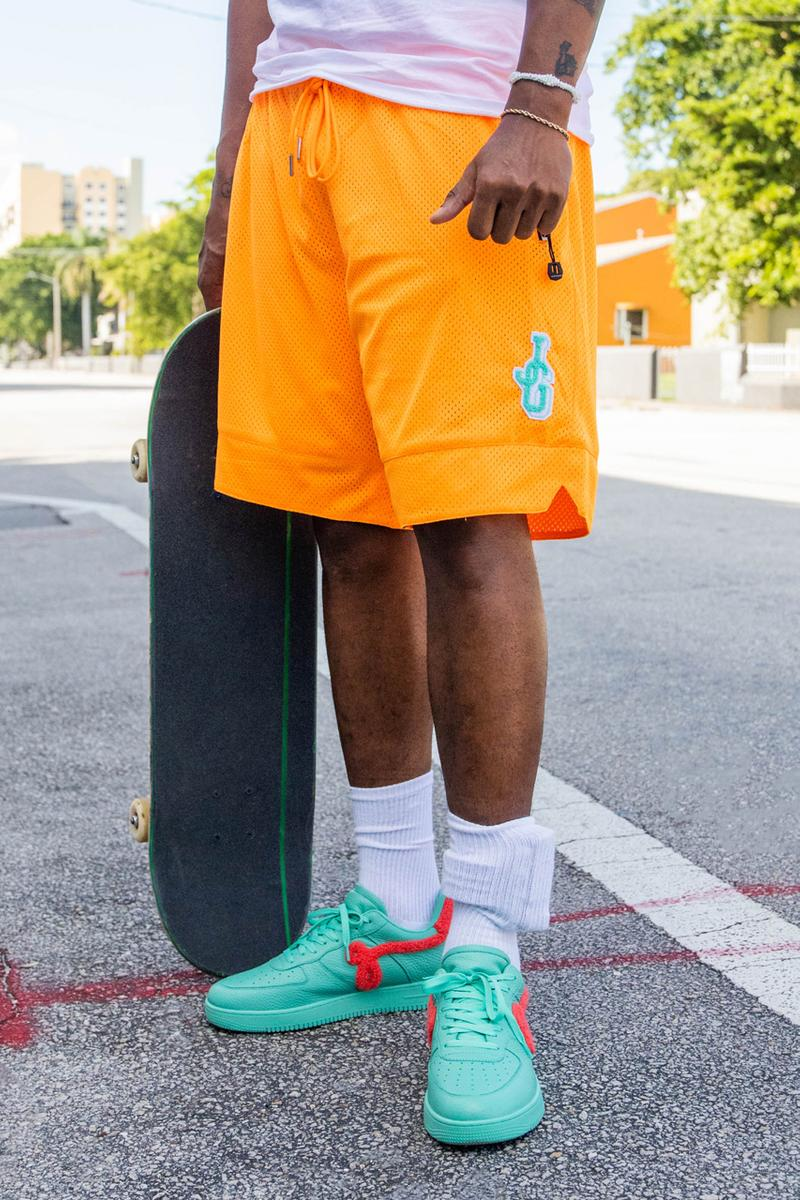 john geiger co gf 01 air force 1 teal peach basketball shorts official release date info photos price store list buying guide