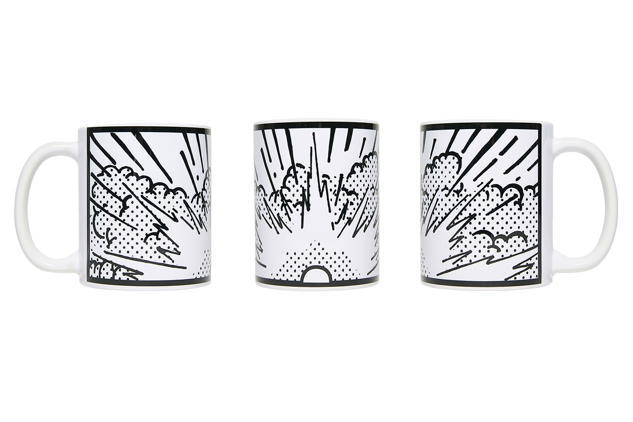 cone ceramic skate deck mug black and white artist limited edition collectibles exclusive