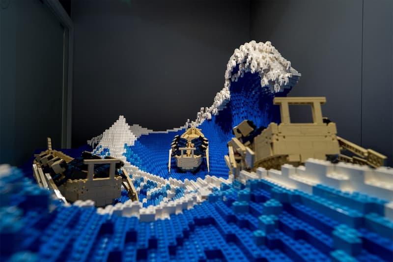 Japanese LEGO Master Recreates Hokusai 'The Great Wave off Kanagawa' Japan Edo-period art Hokusai's ukiyo-e print toys Osaka