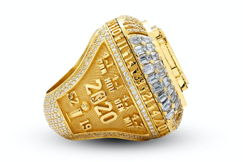 Los Angeles Lakers 2020 NBA Championship Ring Kobe Tribute Social Justice Leave a Legacy