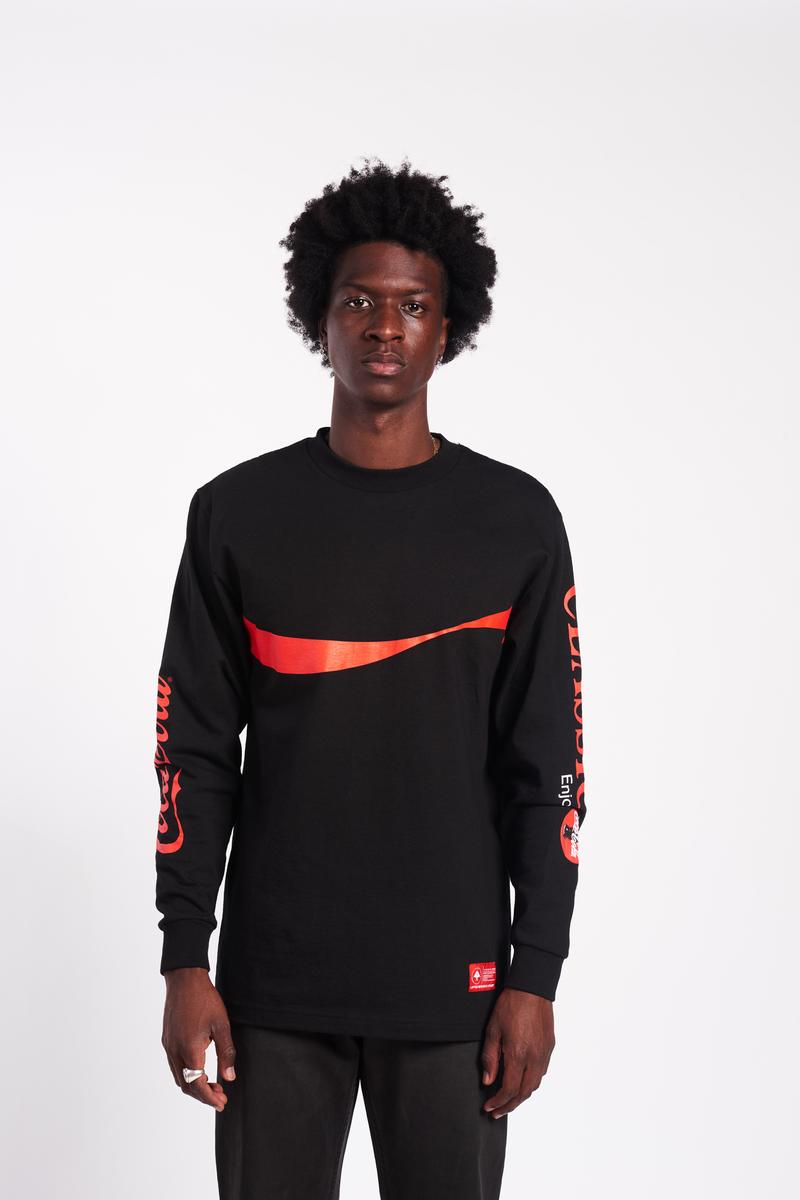 lookbook coca-cola tshirt long sleeve shirt windbreaker fleece set lifted research group so-cal