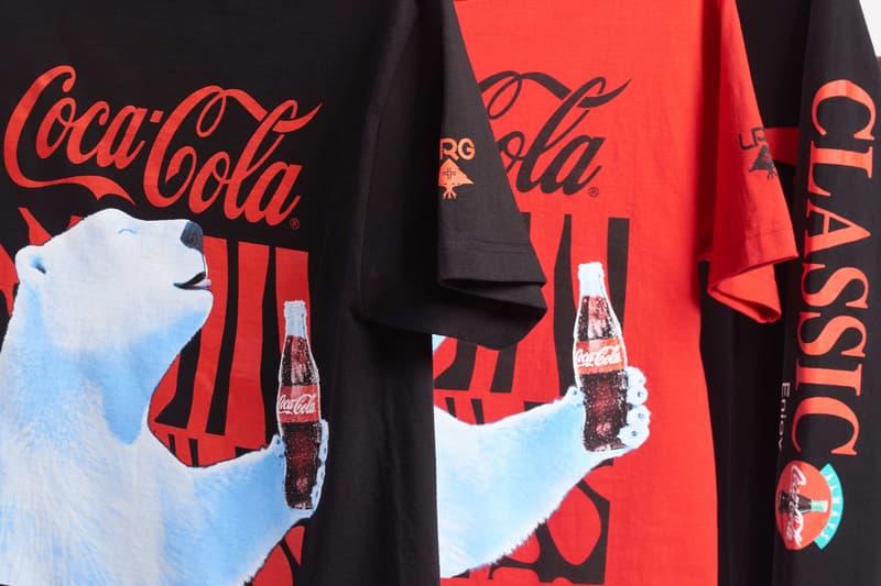 coca cola polar bear double branding graphics windbreaker a pull-over fleece and fleece pants collection collaboration
