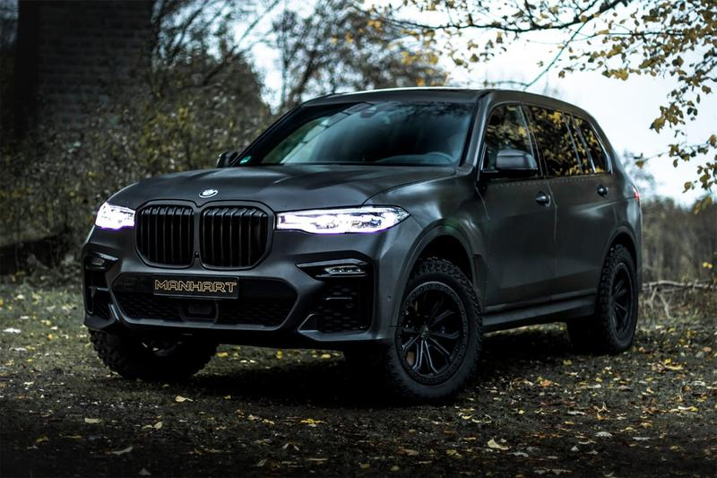 manhart automotive tuner bmw x7 suv off roader dirty edition rivets armored vehicle
