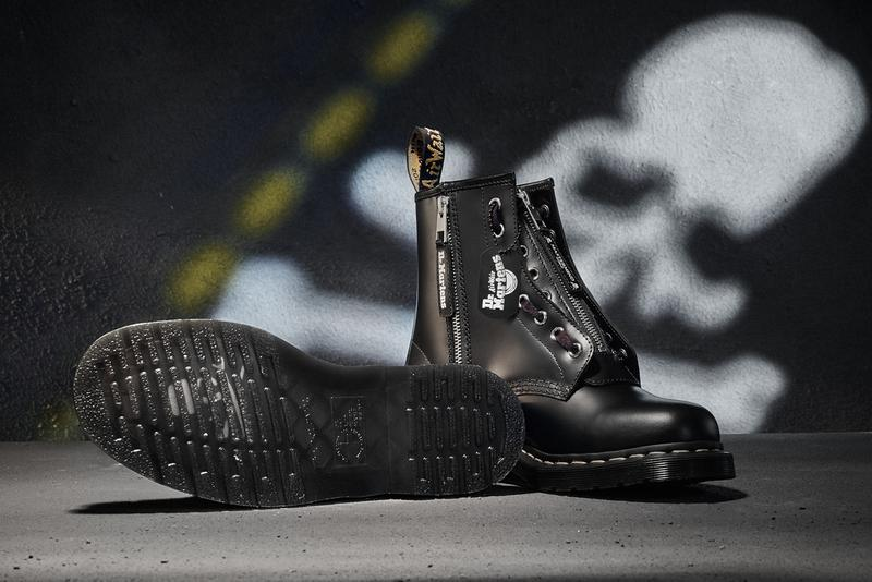 mastermind WORLD x Dr. Martens 1460 Remastered Series Masaaki Homma Japanese Punk Designer Label Boots Fall Winter 2020 FW20 Black Leather
