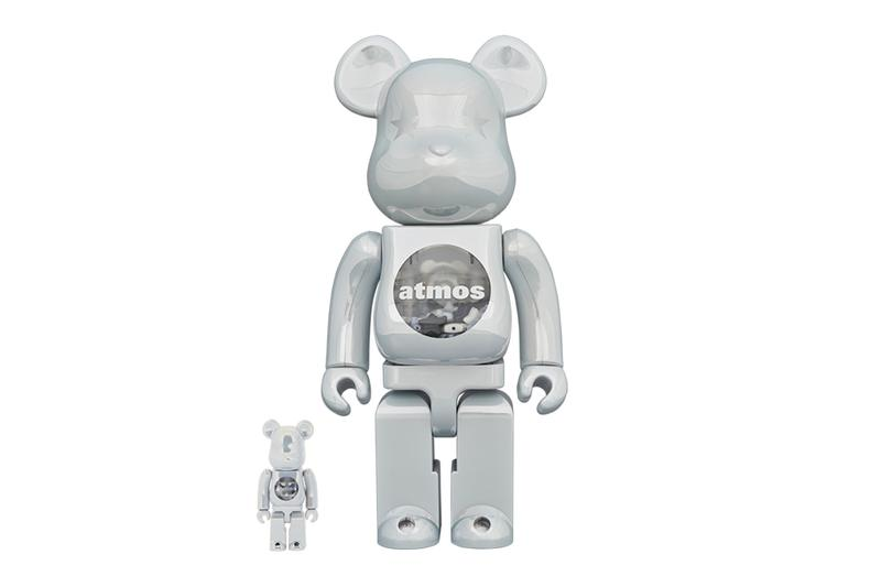atmos Medicom Toy White Chrome BEaRBRICK 100 400 figures toys accessories fall winter 2020 collection fw20 collaborations collabs