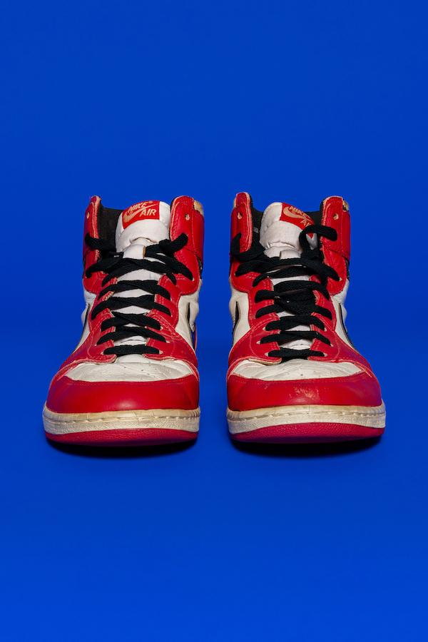 michael jordan shattered backboard game worn sneakers air 1 chicago white red black otis official release date info photos price store list buying guide