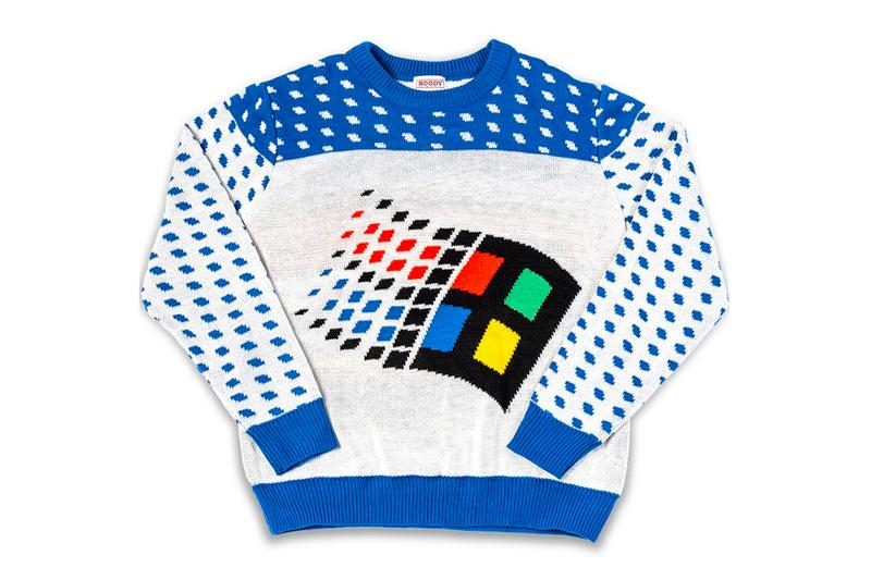 Microsoft Windows 95 Ugly Christmas Sweater Release Windows XP MS Paint