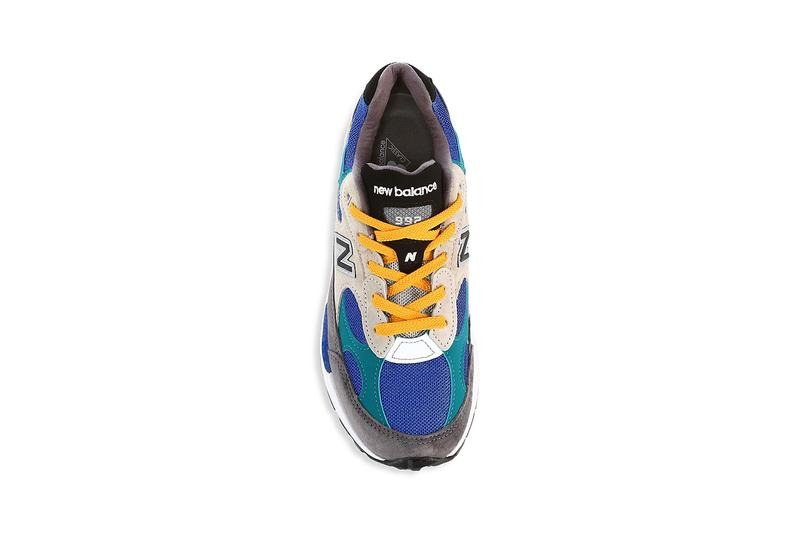 new balance 992 colorblock release info photos price store list buying guide grey green blue yellow white