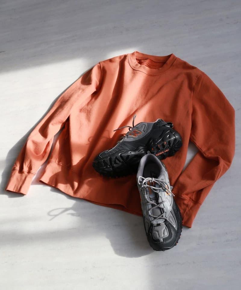New Balance Japan x Save Khaki United Collaboration apparel garments journal standard baycrews exclusive sneakers shirts parka jacket tote bag sku america