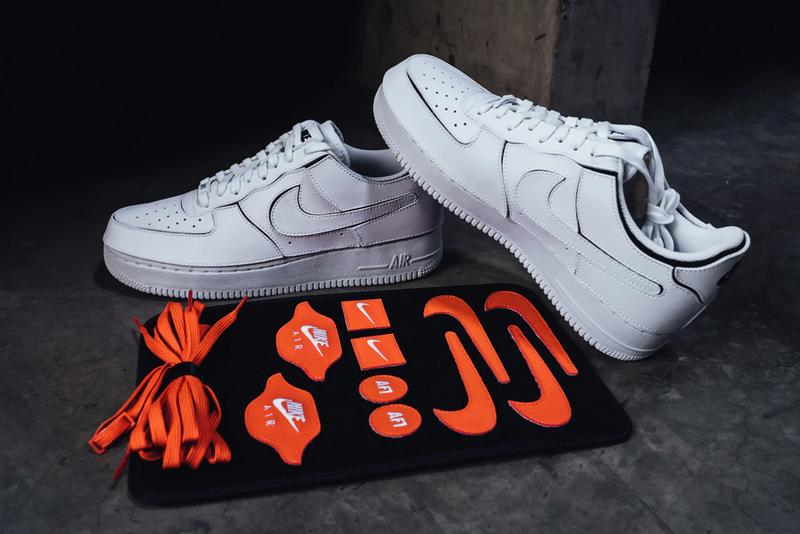 nike sportswear air force 1 1 low customizable white orange black CZ5093 100 official release date info photos price store list buying guide