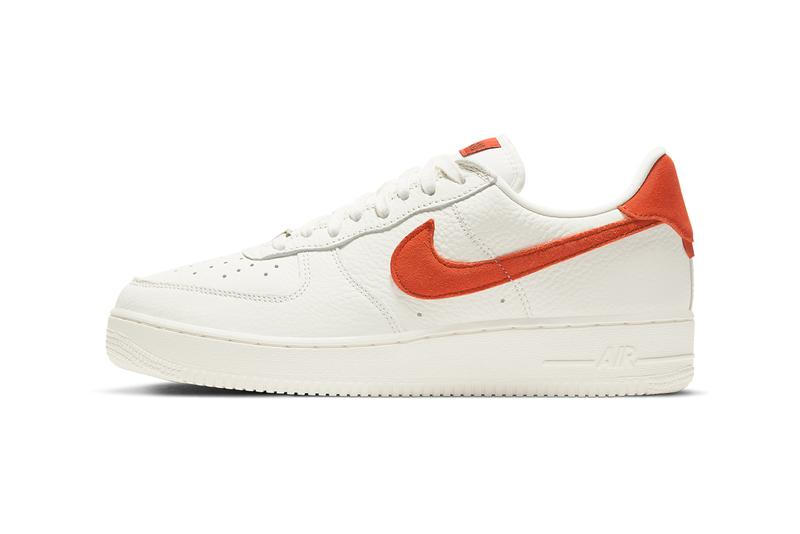 nike sportswear air force 1 low craft sail mantra orange CV1755 100 official release date info photos price store list buying guide