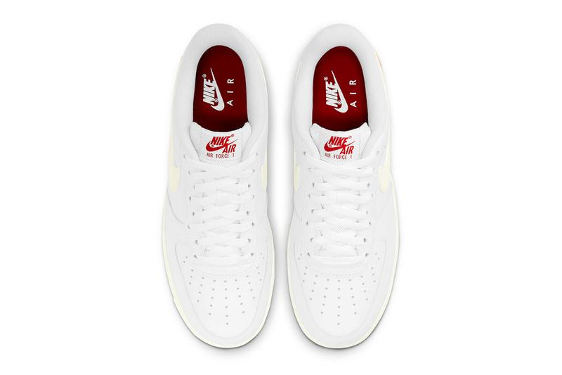 Nike Air Force 1 Low Valentine's Day sail DD7117 100 info menswear streetwear fall winter 2020 collection fw20 shoes sneakers kicks trainers runners
