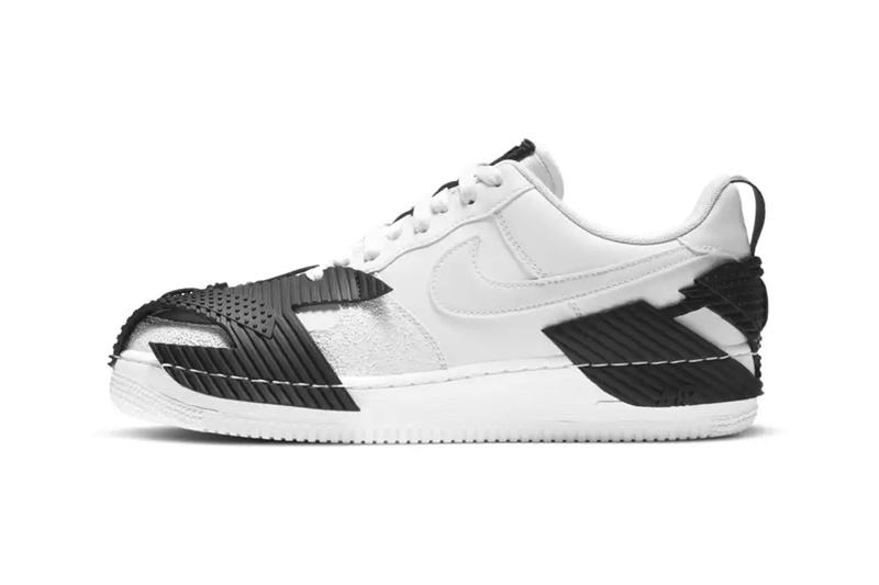 nike air force 1 ndstrkt white black rubber armor details release information closer look buy cop purchase