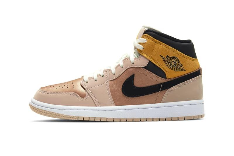 Air Jordan 1 Mid SE Particle Beige DD2224 200 menswear streetwear sneakers kicks runners trainers shoes footwear fall winter 2020 collection fw20