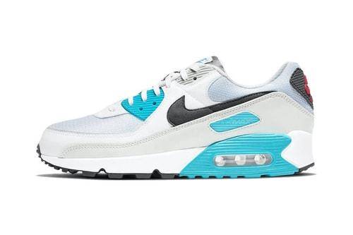 "Nike Dips Its Air Max 90 Silhouette in a Crisp ""Chlorine Blue"" Colorway"