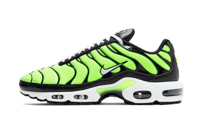 nike air max plus TN Volt hi-vis yellow green release information where to buy when do they drop