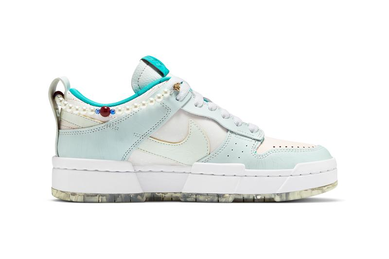 nike sportswear dunk low disrupt forbidden city pearls blue white jade red DC3282 013 official release date info photos price store list buying guide