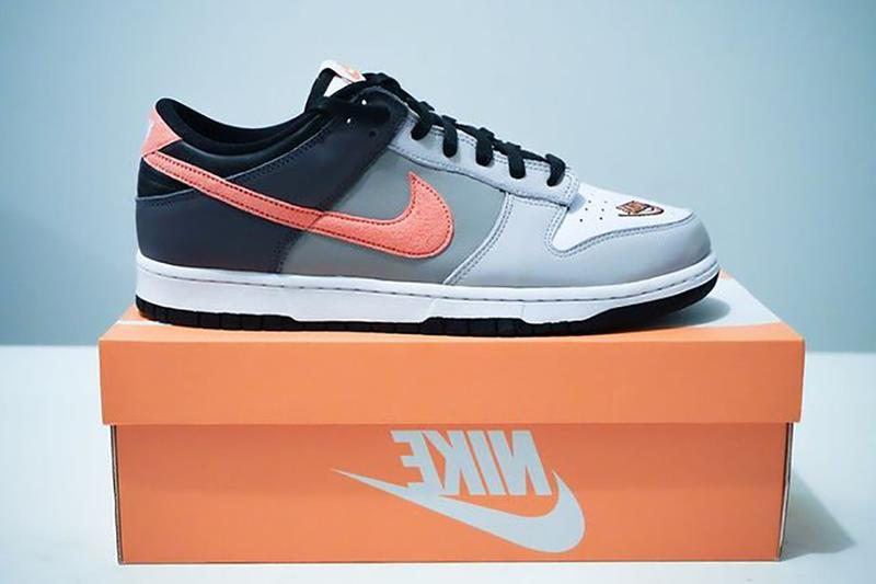 nike dunk low ekin white grey black orange info photos